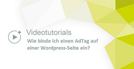 tutorial wie binde ich einen adtag auf einer wordpress seite ein. Black Bedroom Furniture Sets. Home Design Ideas